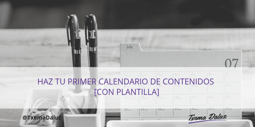 imagen calendario de contenidos blog txema daluz