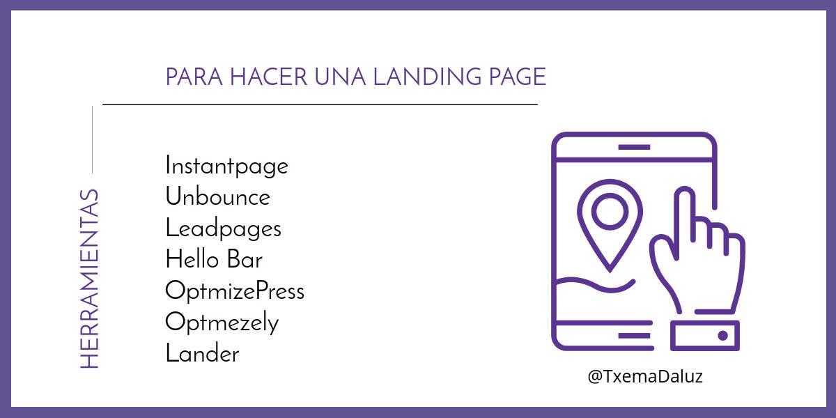 Herramientas para hacer una Landing Page